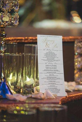 pia-toscano-american-idol-jimmy-ro-smith-jennifer-lopez-wedding-program-bridesmaids-groomsmen