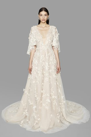 look-5-marchesa-fall-2017-a-line-gown-3d-floral-threadwork-embroidered-tulle-plunging-v-neck-cape