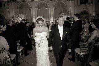 b-w-photo-of-donatella-arpaia-and-alan-stewart-wedding-recessional