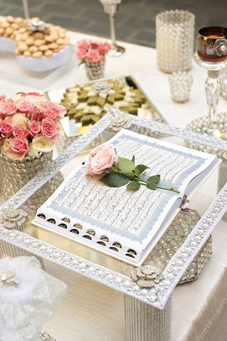 religious-text-persian-wedding-ceremony-flower-votives-crystal-pink-flower