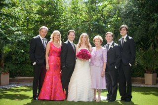 bride-and-groom-with-brides-grandmother-and-parents