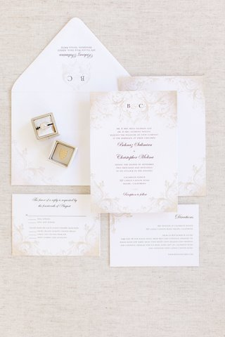 invitation-suite-with-pale-taupe-decorations-vine-pattern