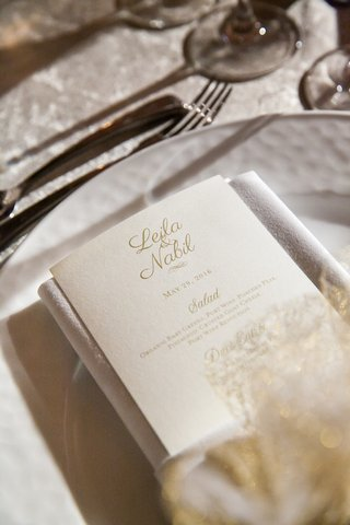 classic-champagne-hued-reception-menu-calligraphy-washington-dc-white-color-scheme