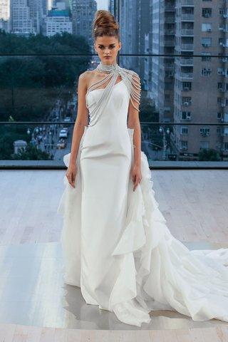 liberty-ines-di-santo-fall-2018-wedding-dress-one-shoulder-ruffle-train-bolero