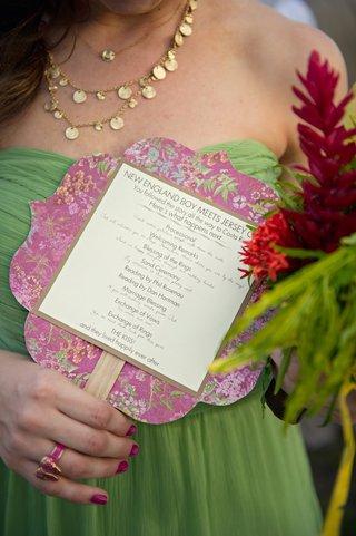 destination-wedding-fan-ceremony-program-on-stick