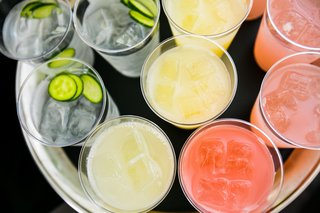 cucumber-garnish-in-pink-and-yellow-drinks