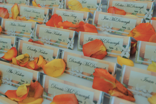 rows-of-place-cards-printed-on-citrus-patterned-paper