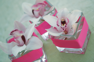 rectangular-vessel-holding-light-purple-orchid-blossom