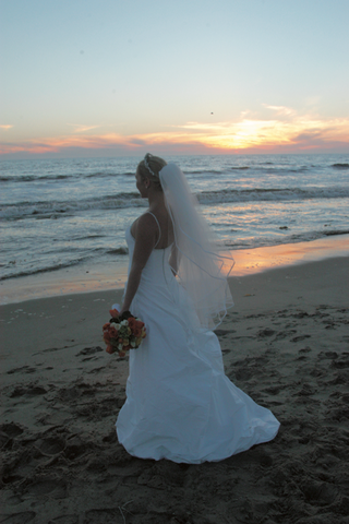 bride-wearing-wedding-dress-looks-at-ocean