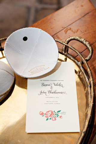 jewish-wedding-ceremony-with-ivory-leather-yarmulke-stamped-with-the-couples-names-and-wedding-date