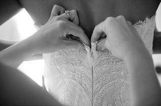 black-and-white-photo-of-christos-wedding-dress