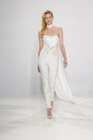 christian-siriano-for-kleinfeld-bridal-sequin-jumpsuit-with-unique-pattern-and-train-neckpiece