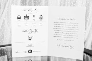 black-and-white-wedding-weekend-itinerary-with-cute-icons-and-script-describing-wedding-day-after