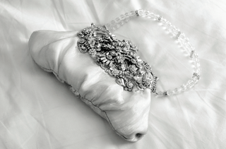 black-and-white-photo-of-crystal-wedding-purse