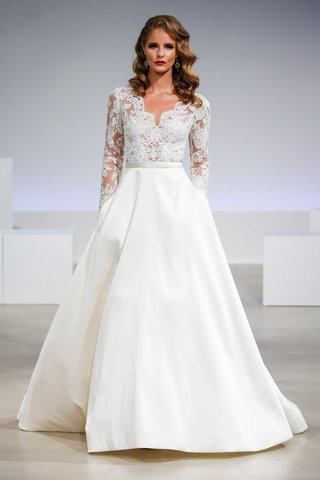 brooks-long-sleeved-alencon-lace-v-neck-voluminous-a-line-mikado-skirt-anne-barge-collection-wedding