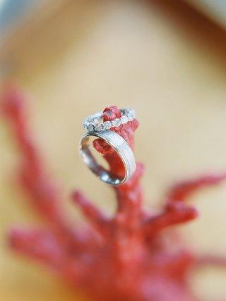 wedding-rings-on-piece-of-coral-from-cj-lana-perry-and-miroslav-rusev-barnyashevs-wedding
