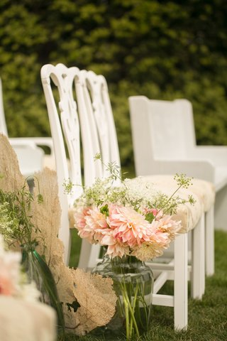 antique-white-ceremony-chairs-with-dahlia-arrangement