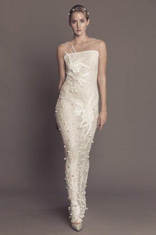 francesca-miranda-fall-2016-column-wedding-dress-with-illusion-neckline-pearls-and-flower-design