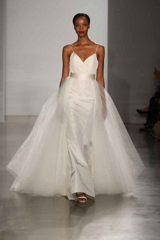 amsale-fall-2016-spaghetti-strap-v-neck-wedding-dress-with-overskirt