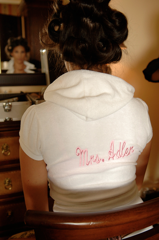 bride-wearing-custom-terrycloth-short-sleeve-hoodie
