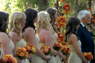 bridesmaids-in-champagne-dresses