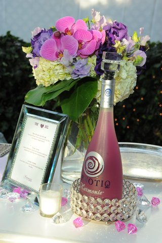 hpnotiq-harmonie-pink-bottle-and-framed-bar-menu
