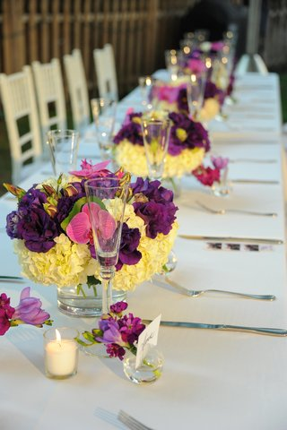 hydrangea-and-orchid-centerpieces