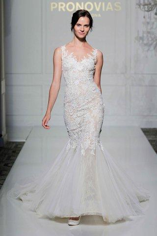 pronovias-2016-lace-mermaid-wedding-dress-with-illusion-neckline