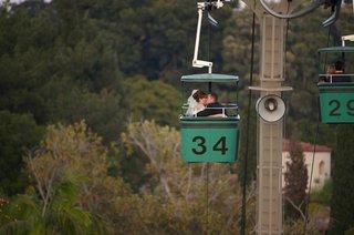 bride-and-groom-on-san-diego-zoo-skyfari-gondola-lift