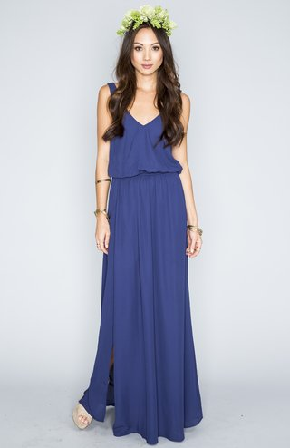 v-neck-draped-bridesmaid-dress-in-navy
