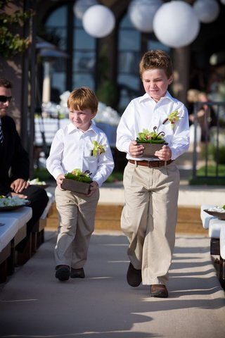 ring-bearers-in-khaki-slacks-and-white-button-down-shirts