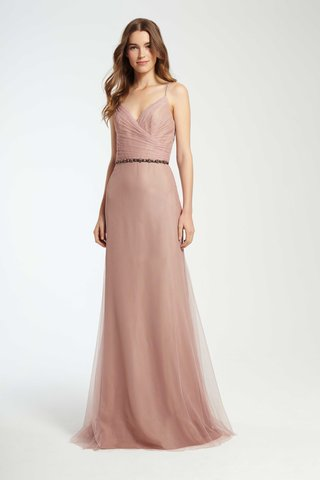 monique-lhuillier-bridesmaids-fall-2016-pink-bridesmaid-dress-with-wrap-front-and-spaghetti-straps