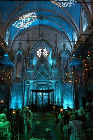 interior-of-gothic-venue-with-blue-lighting-in-cathedral-ceiling