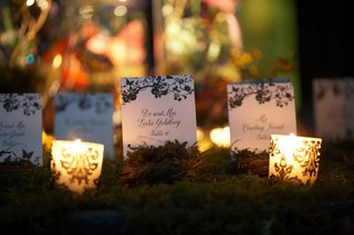 place-cards-in-bed-of-moss-surrounded-by-candles