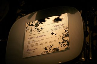 white-menu-with-black-butterfly-and-vine-design