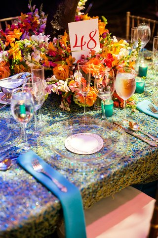 indian-wedding-reception-linens-and-flowers