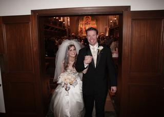 newlyweds-exiting-church-wedding
