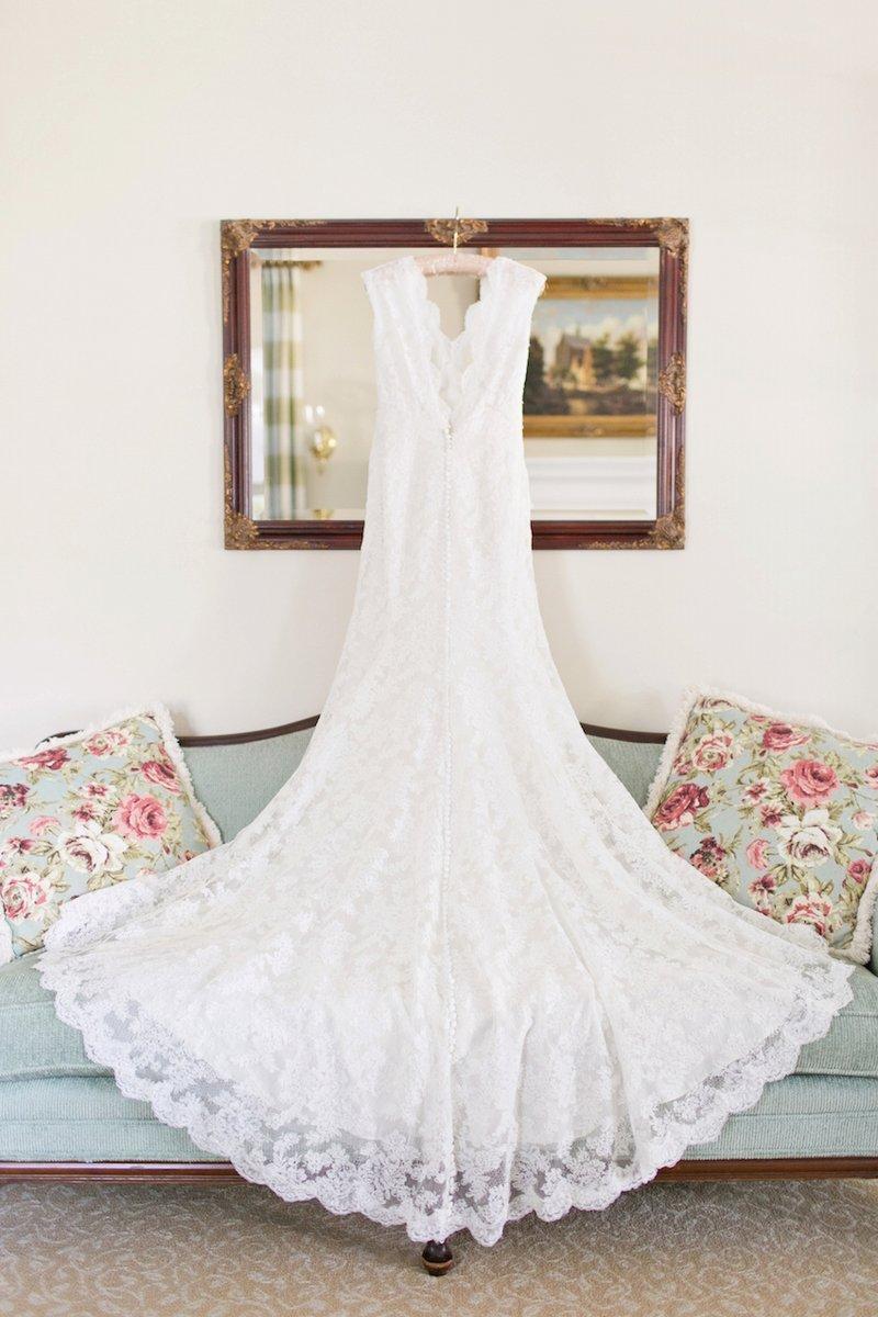 Alençon Lace Wedding Gown