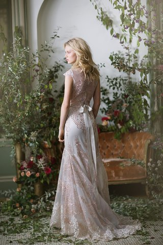 claire-pettibone-fall-winter-2016-soft-pink-embroidery-lace-wedding-dress-with-bow-back
