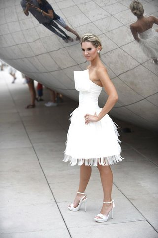 bride-in-a-modern-short-dress-style-and-updo