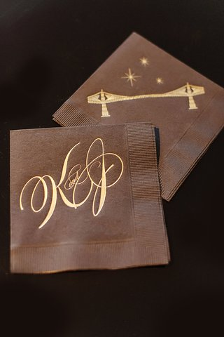 wedding-cocktail-napkins-with-initials-and-john-a-roebling-suspension-bridge