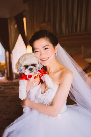 chinese-woman-in-wedding-dress-with-puppy-in-red-outfit