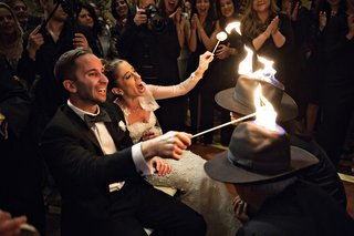 jewish-wedding-schtick-lighting-hats-on-fire-fire-tricks