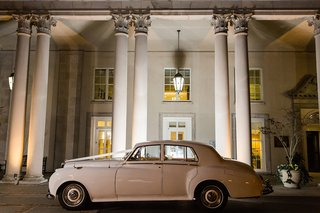 car-waiting-for-newlyweds-1956-white-bentley-sedan