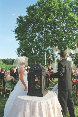 bride-and-groom-open-cage-filled-with-doves