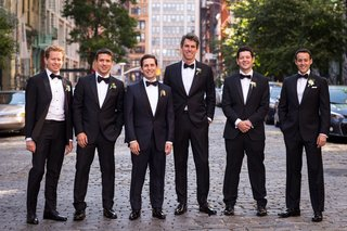 wedding-in-new-york-city-groom-and-groomsmen-in-tuxedos-with-bow-ties