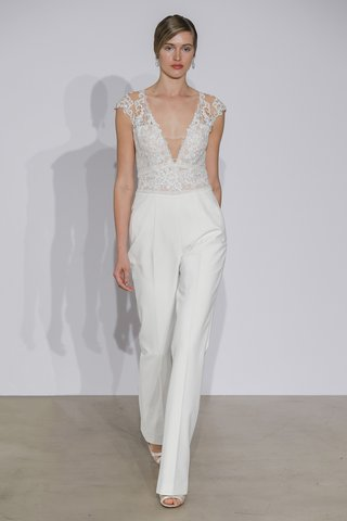 justin-alexander-fall-2018-crepe-jumpsuit-with-v-neck-illusion-lace-bodice