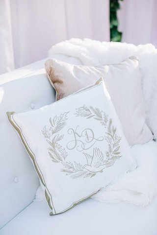 white-and-gold-pillow-custom-design-monogram-gold-border-fur-throw-tufted-lounge-area