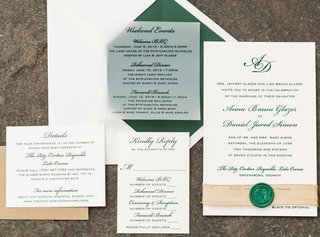 rustic-elegant-wedding-invitation-suite-green-envelope-liner-and-calligraphy-wax-seal-with-stamp
