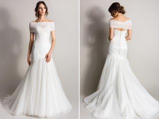 asymmetrical-wedding-dress-with-shoulder-wrap